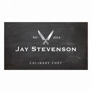 Cool Personal Chef Knife Black Catering Logo Business Card ...