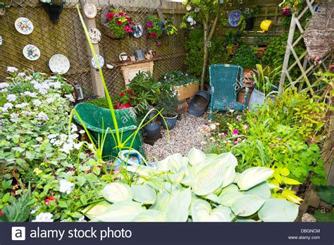 Typical English Garden Plants Flowers Planted Around