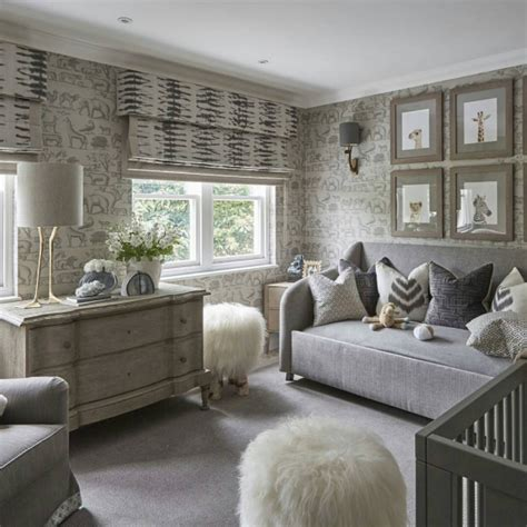 Sophisticated Gray Interior by Sophisticated Grey Safari Nursery By Paterson