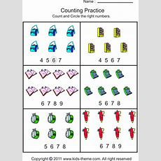 Counting Objects Up To 10 And Cirlce The Correct Number  Love This!  Pinterest Worksheets