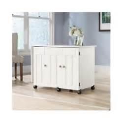 sauder sewing machine craft table cabinets shelves storage