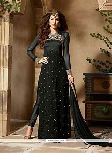 buy prominent grey georgette designer salwar