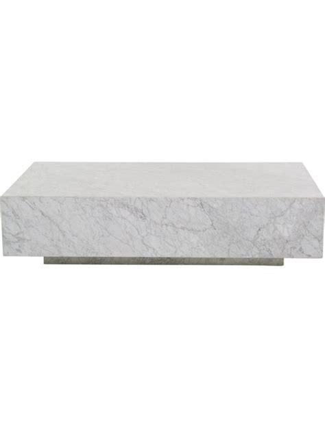 Other console, coffee table, end table options Restoration Hardware Marble Plinth Coffee Table - Furniture - RESTH20600 | The RealReal