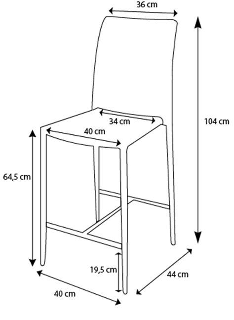 mesure d une chaise chaise à hauteur réglable design lenibi mobilier moss