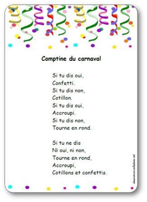 si鑒e auto comptine comptine du carnaval de carl norac paroles illustrées de la comptine du carnaval à imprimer