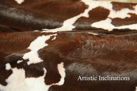 Faux Cowhide Fabric For Upholstery by 1 Yard Of Faux Cow Hide Fabric In Brown By