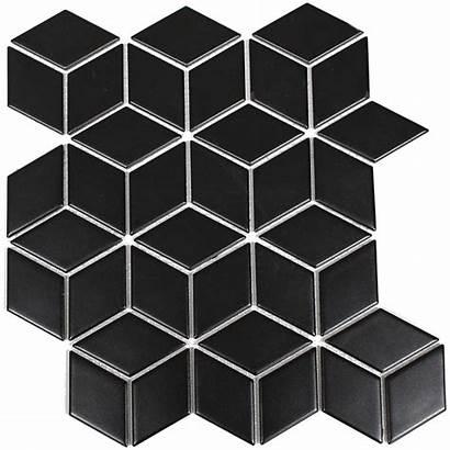 Tile Tiles Diamond Wall Mosaic Satin Johnson