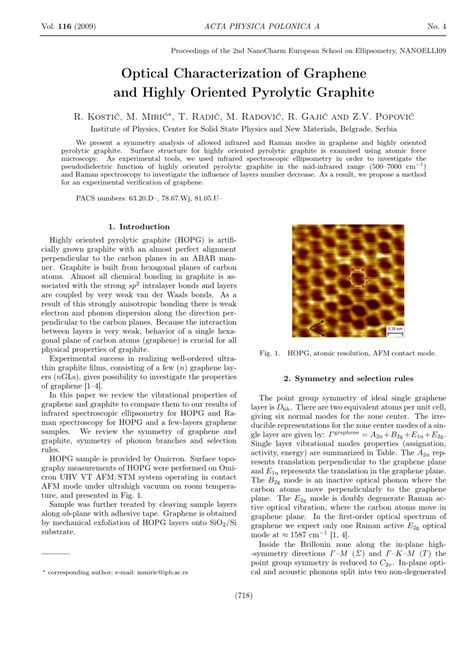 optical characterization  graphene  highly oriented pyrolytic graphite