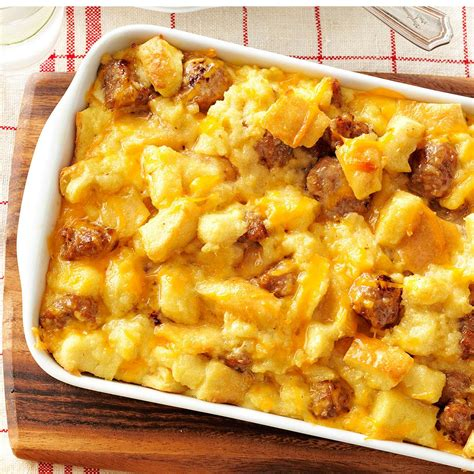 egg casserole recipes sausage and egg casserole recipe taste of home