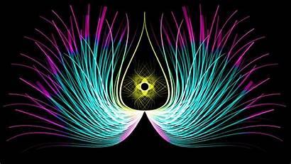 Turquoise Teal Purple Line Figure Illustration Symmetrical