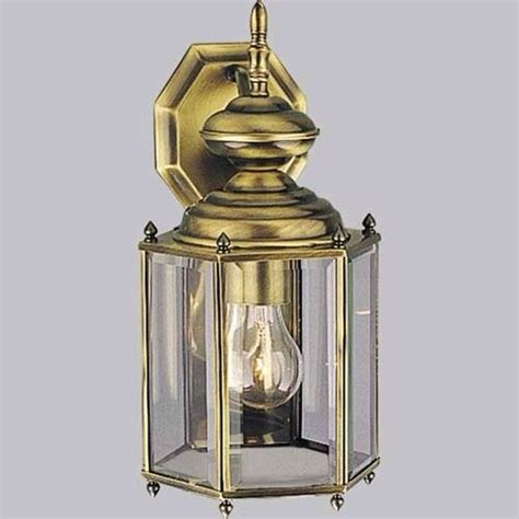 outdoor wall light antique brass ebay