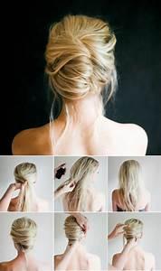 Tuto Coiffure Cheveux Court : beaucoup d 39 id es diy pour une coiffure de soir e facile ~ Melissatoandfro.com Idées de Décoration