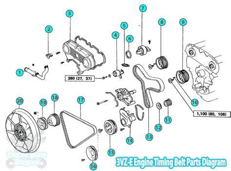 Toyota Pickup Hilux Timing Belt Parts Diagram Engine