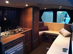 kitchen under the window type layout nice seating With t4 camper interior ideas