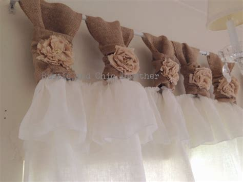 white linen and burlap ruffles curtains wide ruched tabs