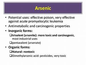 Arsenic and manganese poisoning