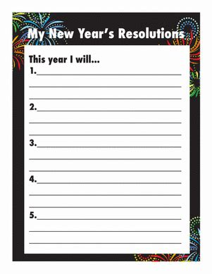 new year s resolutions worksheet education com