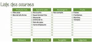 Listes De Courses : menu de la semaine green feisty ~ Nature-et-papiers.com Idées de Décoration