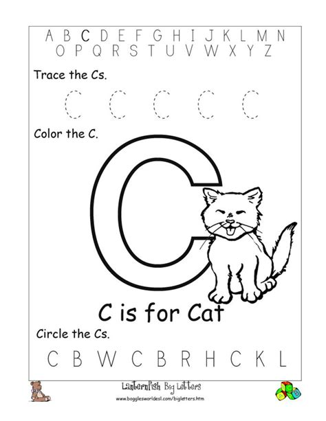 10 Best Images Of Circle The Letter Worksheets For Preschool  Beginning Letter Sounds