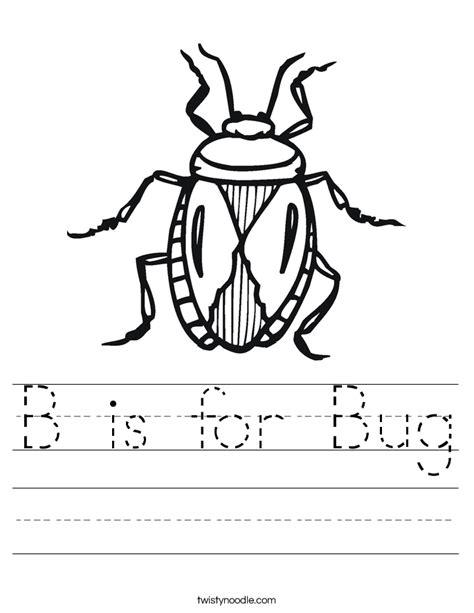 B Is For Bug Worksheet  Twisty Noodle
