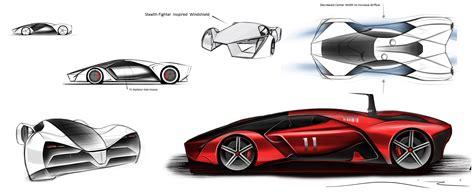 ferrari drawing ferrari concept drawing cars