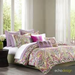 echo design vineyard paisley cotton 4 piece comforter set ebay