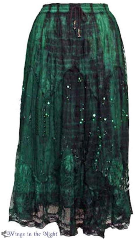 Hippie Green Tie Dye Long Skirt