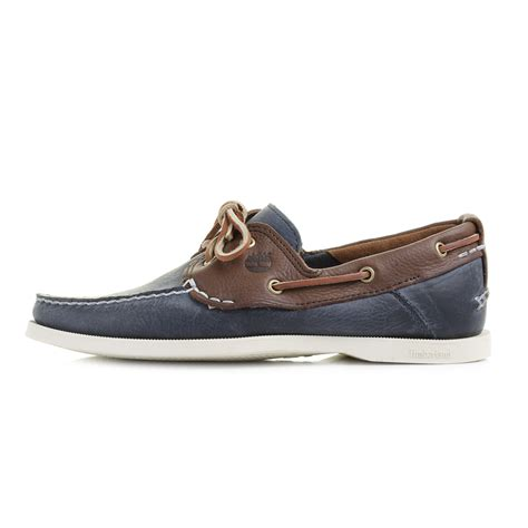 Timberland Blue Boat Shoes Mens by Mens Timberland Ek 2 Eye Brown Navy Blue Leather Boat