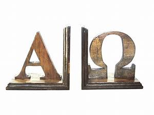 custom letter bookends greek or hebrew letters wood With wooden hebrew letters