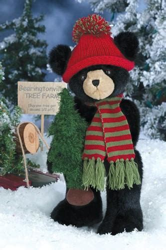 bearington bears al pine black bear  hat  scarf