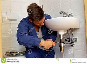 Plumber At Work Stock Photography   CartoonDealer.com ...