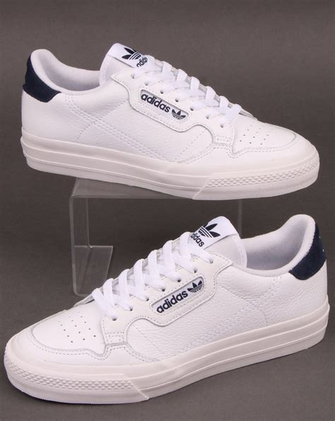 Adidas Continental Vulc Trainers White/Navy - 80s Casual ...