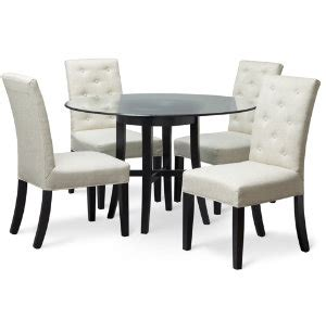 48 quot rnd glass table w 4 chairs art van furniture