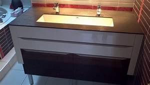 meuble plan de travail cuisine meuble de cuisine couleur With meuble salle de bain plan de travail