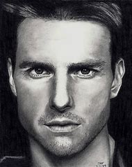 Tom Cruise Pencil Drawing