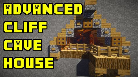 minecraft advanced cliff cave house build tutorial xboxpepcpsps youtube