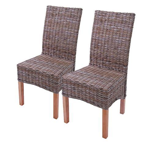 chaise en osier accueil 2x chaise 224 manger chaise en osier chaise m44 rotin kubu sans coussin de si 232 ge