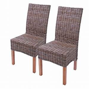 Siege En Rotin : accueil 2x chaise manger chaise en osier chaise m44 rotin kubu sans coussin de si ge ~ Teatrodelosmanantiales.com Idées de Décoration