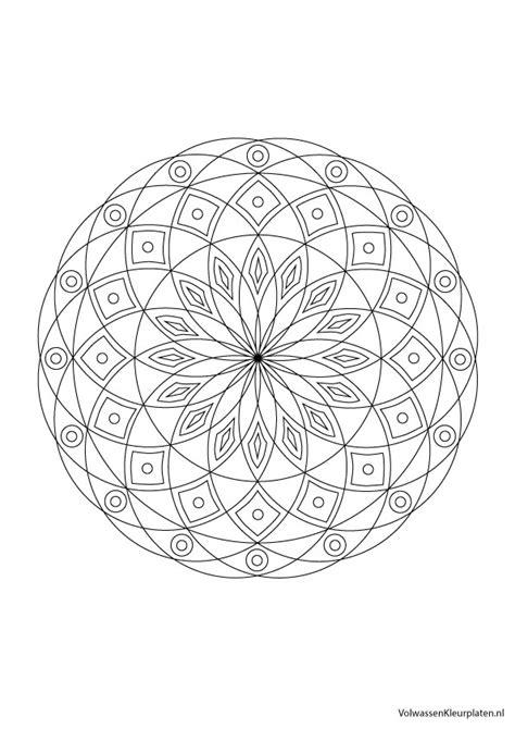 Cirkel Kleurplaten Volwassenen by Volwassen Kleurplaat Mandala 4 Volwassen Kleurplaten