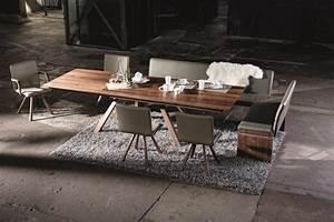 Table En Noyer : table de repas en noyer spirit ~ Teatrodelosmanantiales.com Idées de Décoration