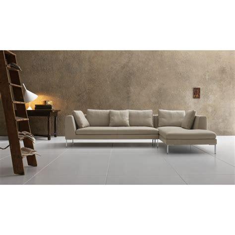 canapé chaise longue canapé italien avec chaise longue santa cuir ou tissu