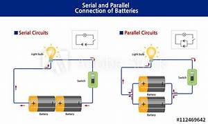 Shows The Diagram Of Serial And Parallel Batteries Showing