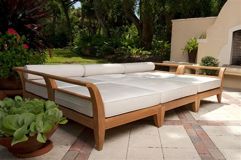 aman dais teak patio daybed contemporary patio