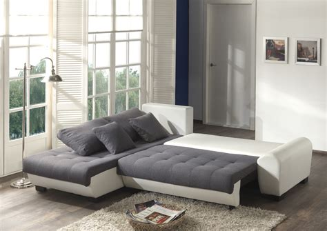 canape gris blanc canapé d 39 angle contemporain convertible en tissu coloris