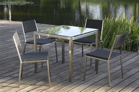 china outdoor furniture stainless steel vigo dining set