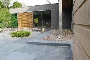 terrasse dalle beton xxl With eclairage exterieur maison contemporaine 14 garde corps pour terrasse en beton cire moderne