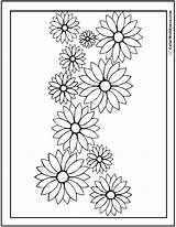 Coloring Daisy Flower Garland Daisies Drawing Flowers Pdf Rose Sunflower Printable Colorwithfuzzy Outline Roses Spring Printables Pdfs Customizable Realistic Getdrawings sketch template