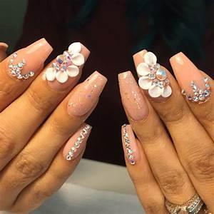 3-d nail art all acrylic and crystals | Nails | Pinterest ...