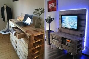 Acheter Meuble En Palette Bois : meuble en palette int rieur et ext rieur 40 nouvelles ~ Premium-room.com Idées de Décoration