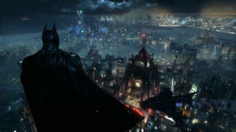 Justice League Wallpaper 4k Wallpaper Engine Batman Arkham Knight Batman Overlooking Gotham From Wayne Tower Youtube